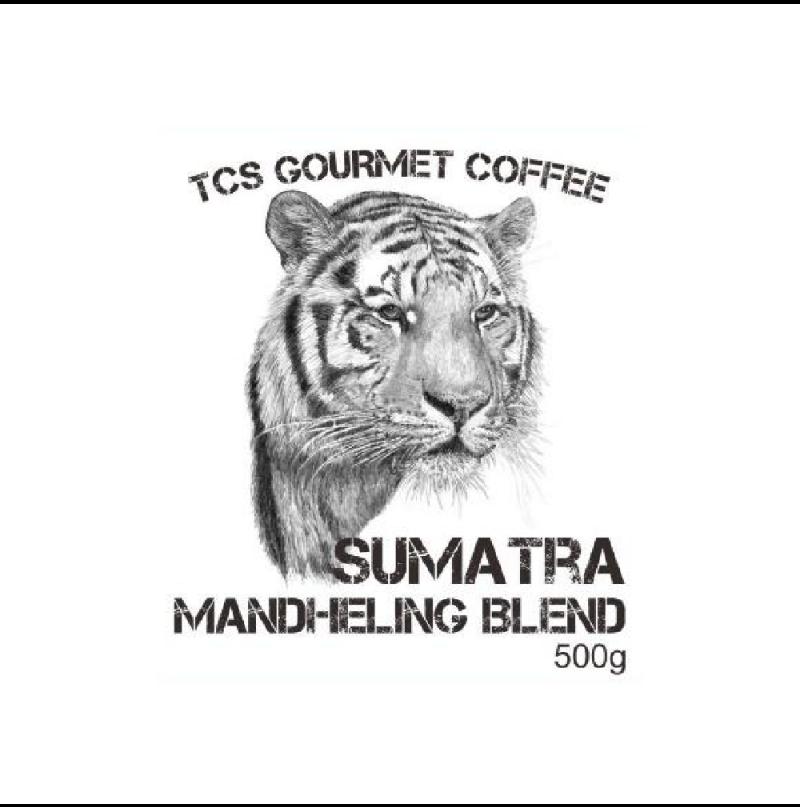 TCS Sumatra Mandheling Gourmet Coffee Bean, 500g