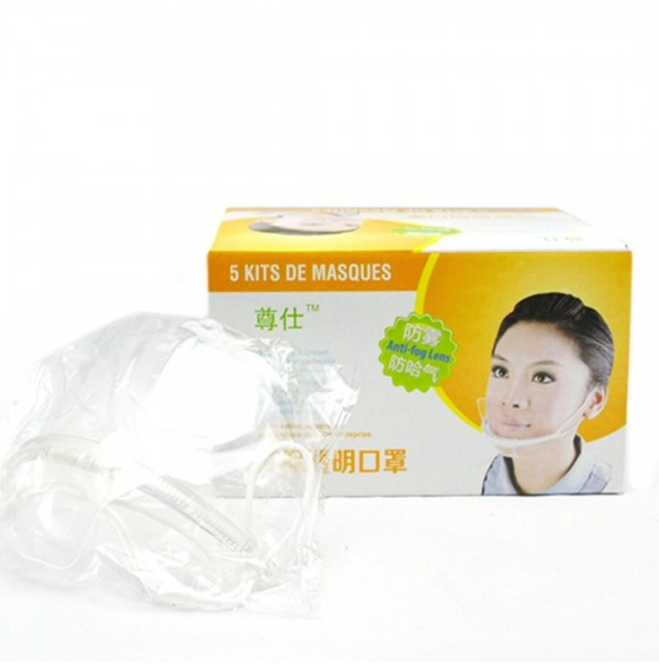 Reusable Food Hygiene Mask Transparent Anti Fog