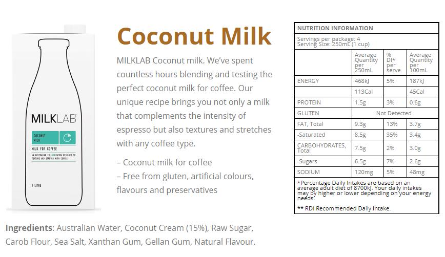 MILKLAB Non-Dairy Coconut Milk